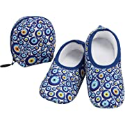 Women's  Skinnies® Snoozies!® Slippers - Dots With Matching Travel Pouch