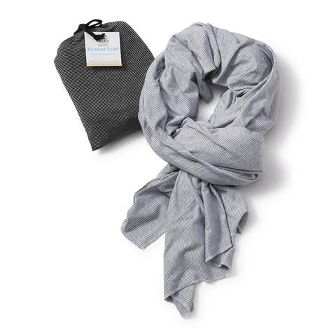 Blanket Scarf - Gray Stripe