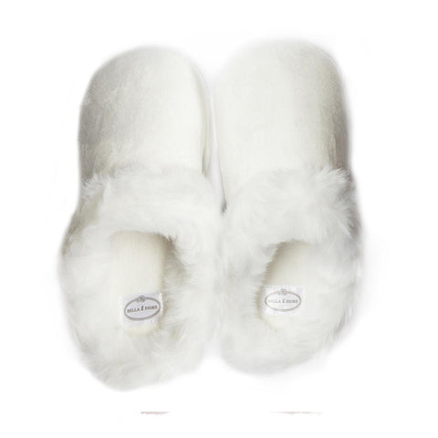 White Mule Slippers
