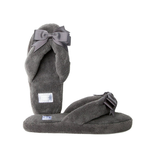 Gray Spa Slippers