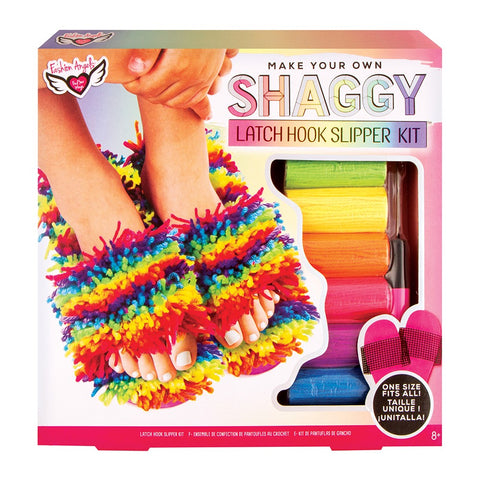 Make Your Own Shaggy Latch Hook Slippers Kit