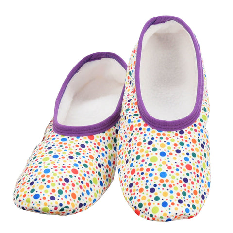 Women's Skinnies® Snoozies!® Slippers - Multi Dots With Matching Travel Pouch