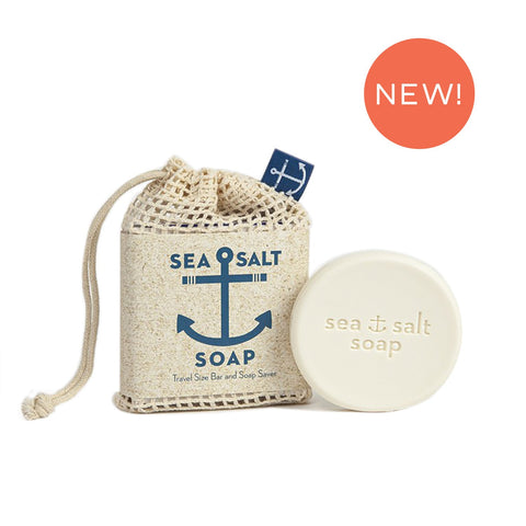 Swedish Dream® Sea Salt Soap Pocket Size Bar & Soap Saver
