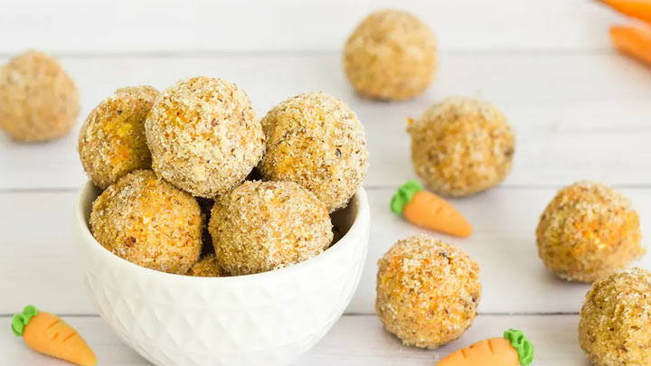 Carrot Cake Protein Date Balls