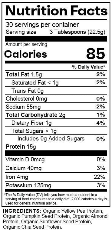 c protein Nutrition Facts
