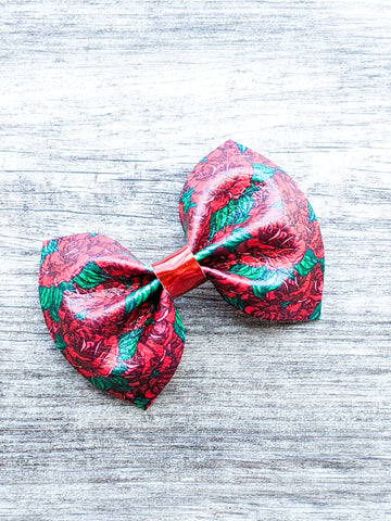 Dozen Roses Pinch Bow