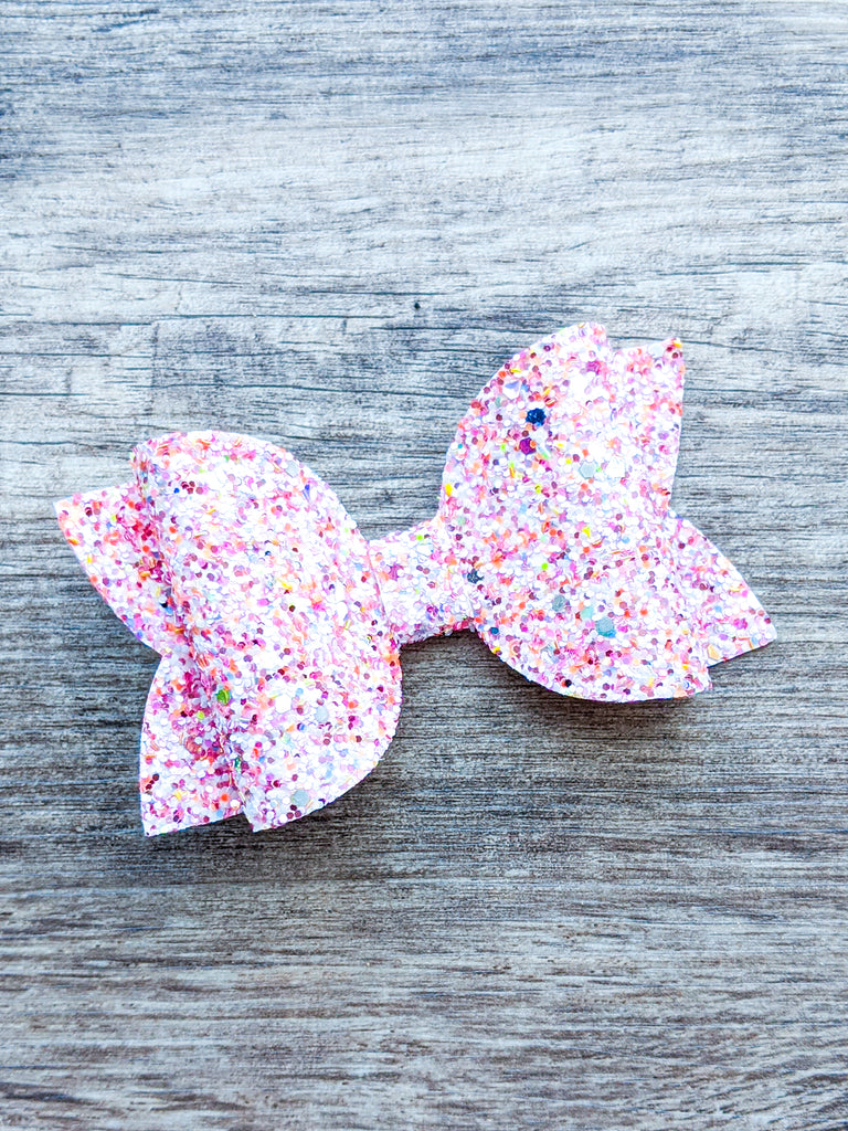 Pink Sprinkles Classic Bow 4""