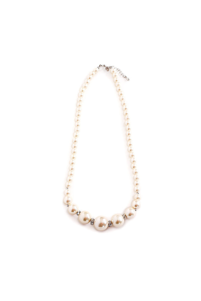 Pearl & Rhinestone Girls Necklace