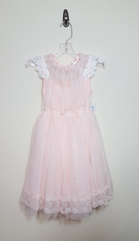 Peach Tulle & Lace Dress Size 8