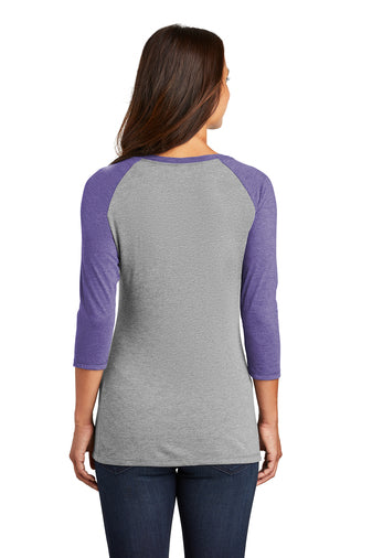 Adventure Chicks Purple Gray Raglan 3/4 Sleeve In stock