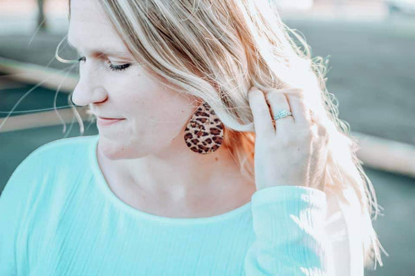 Tear Drop Earrings - Animal Prints