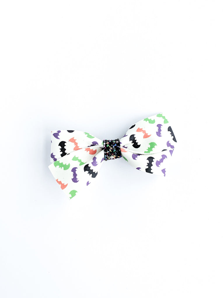 Bat Girl Skinny Loopy Glow Bow