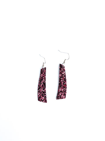 Maroon glitter Contempo earrings