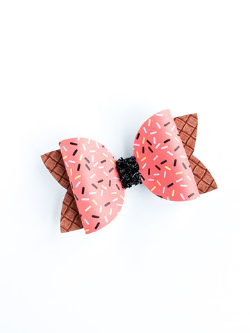 Pumpkin Ice cream Classic Bow 3.5""
