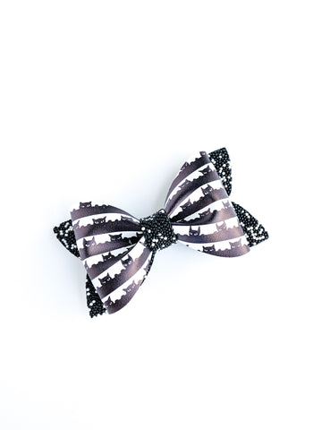Peeping Tom Cat Princess Bow 3.5""