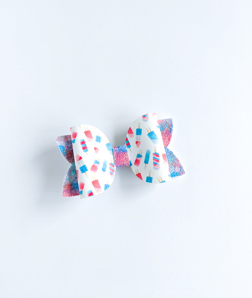 Melted Bomb Pops Classic Bow