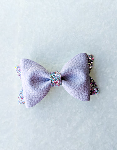 Purple princess bow