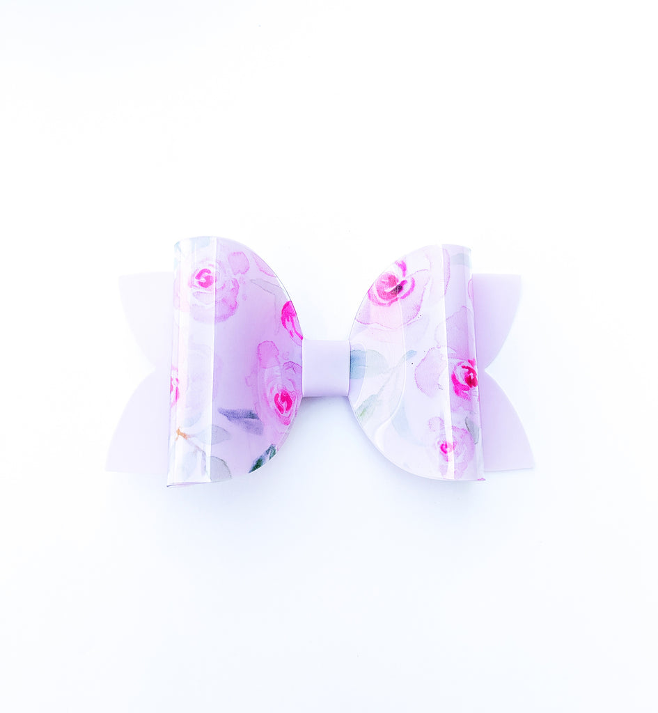 Purple Floral Jelly Bow