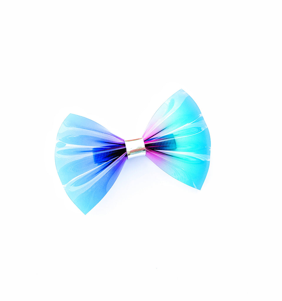 Rainbow Ombre Jelly Pinch Bow