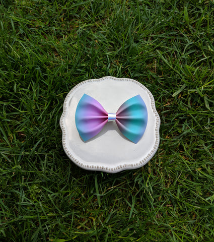 Pastel rainbow ombre pinch bow