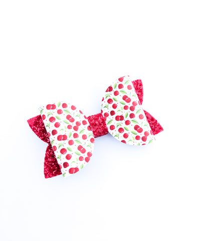 Cherries Classic Bow 4.5""