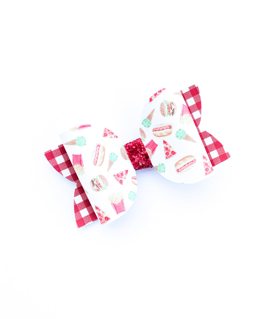 Fast Food Picnic Classic Bow 3.5""