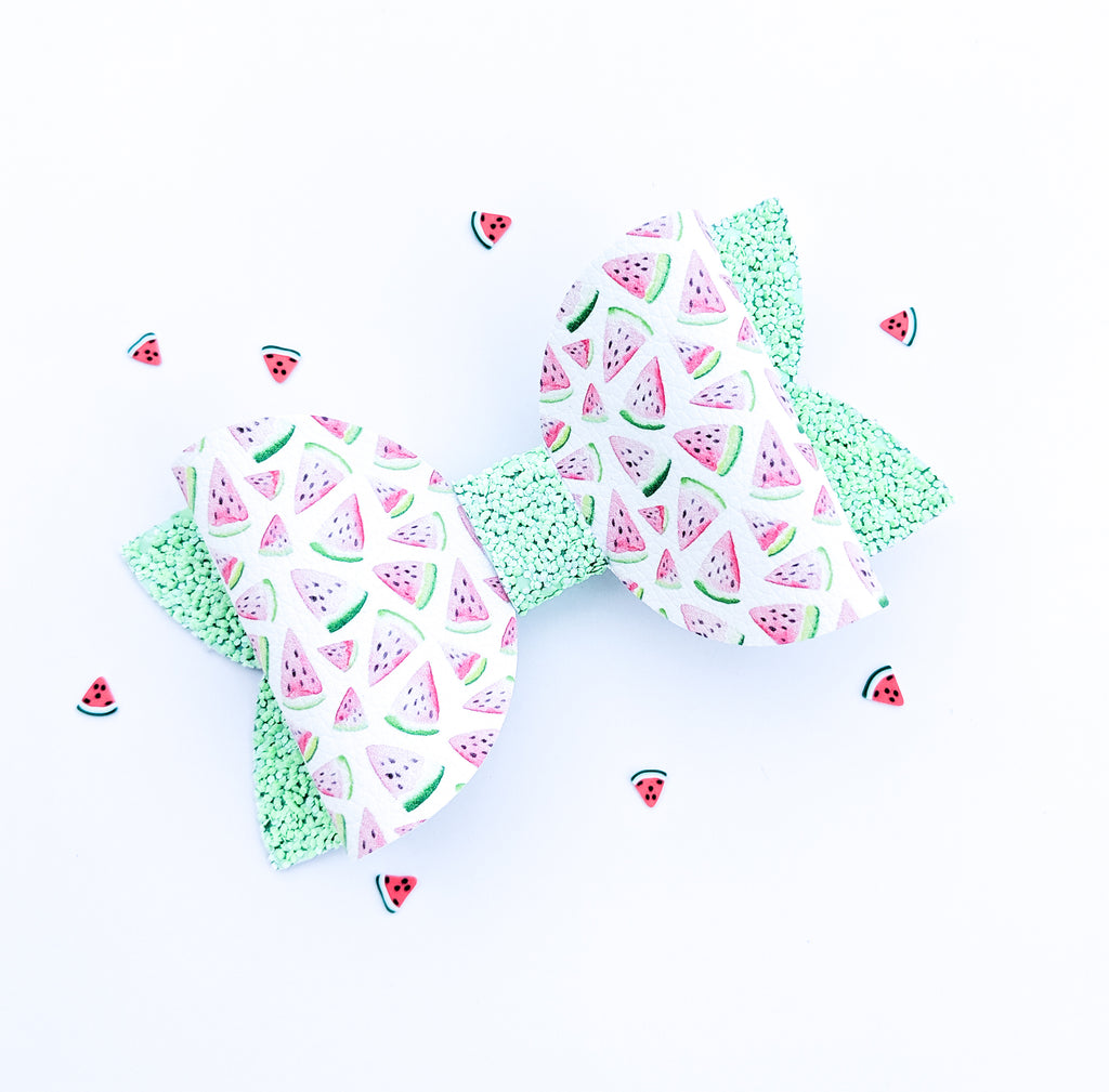 Watermelon Classic Bow 4.5""