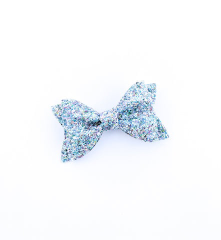 Aqua Seaglass Princess Bow 3.5""