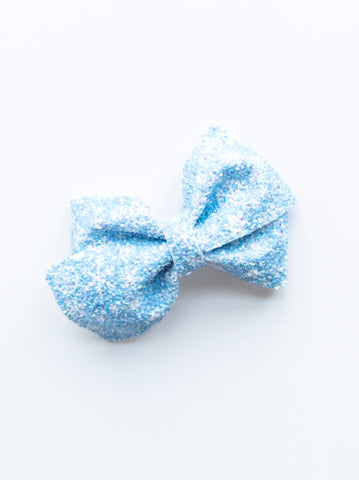 Blue Snowflakes Loopy Bow