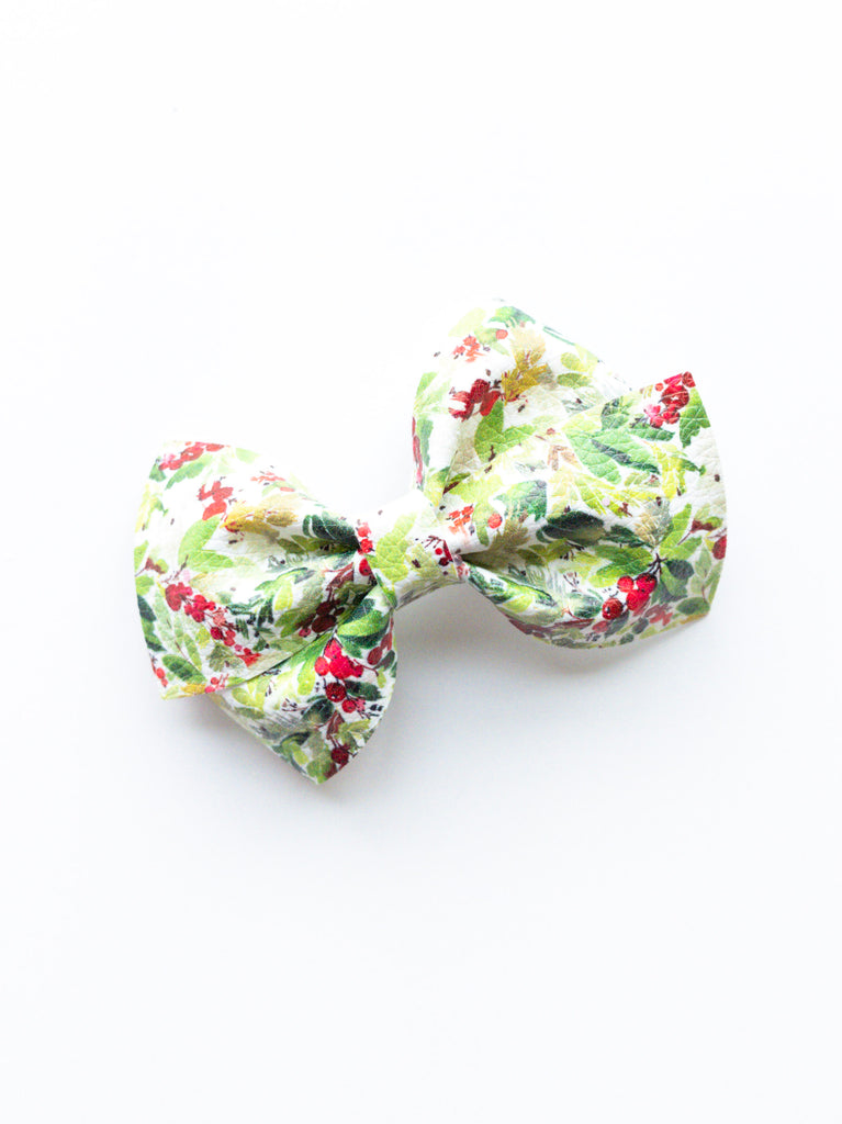 Holly Berries Loopy Bow