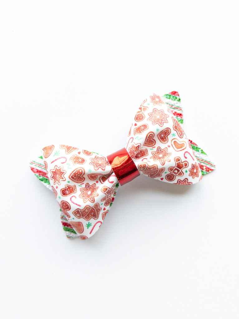Gingerbread Cookies Princess Bow 3.5""