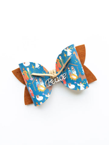 "Peace on Earth Classic 4"" Bow"