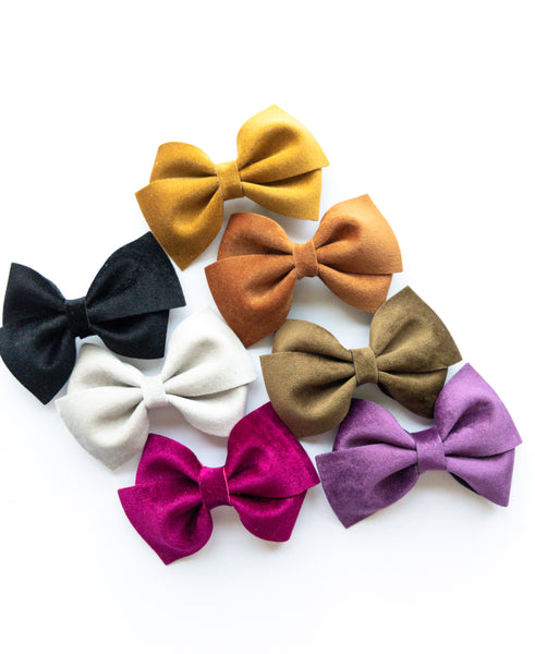 Velvet Loopy Bows