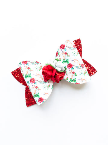 "Unicorn Floral Classic 4"" Bow"