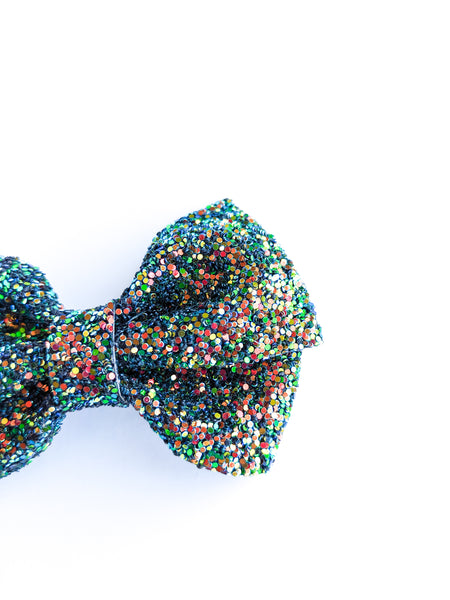 Autumn Glitter Loopy Bow