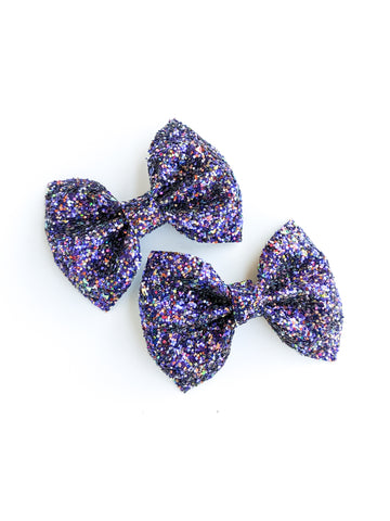 Deep Purple Pinch Bow