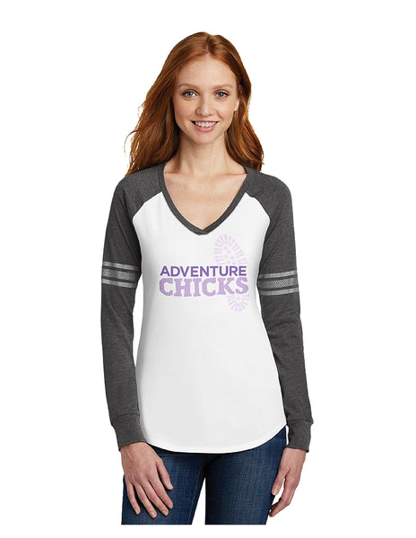 Adventure Chicks Game Long Sleeve Tee -In stock