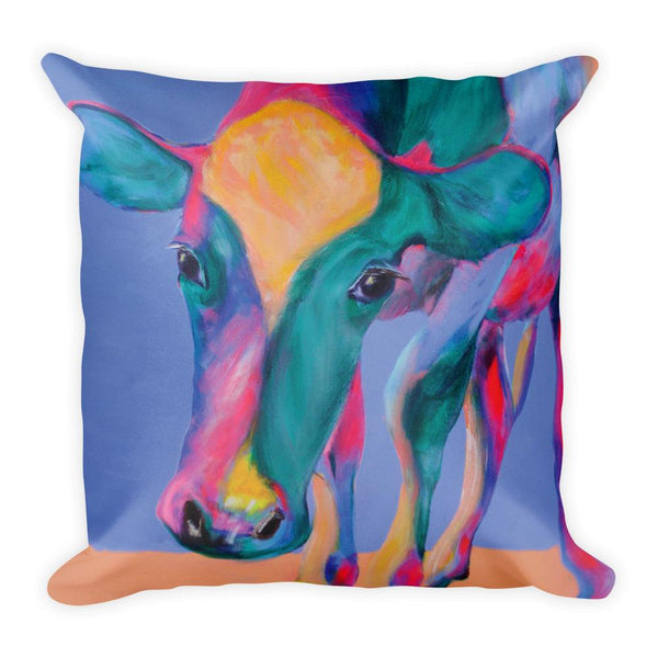 Low Cow Square Pillow