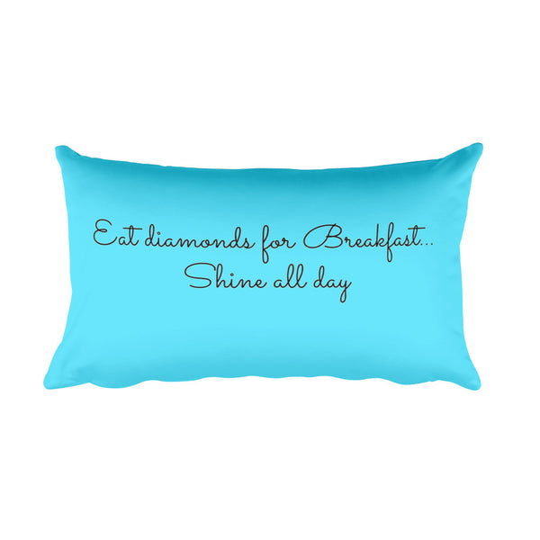 Diamonds for Breakfast Rectangular Pillow