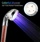 LED Shower Head Water Filter