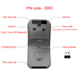 2.4G USB Wireless+Bluetooth Folding Rechargeable Mouse