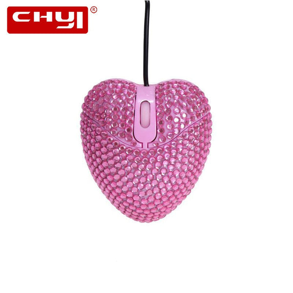 CHYI Cute Pink Heart  Office Mouse