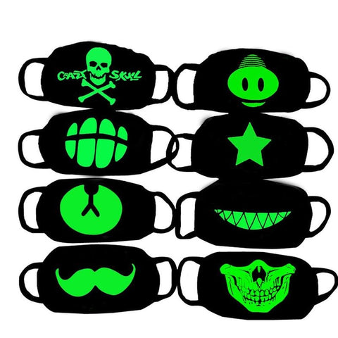 Glow In Dark Skull Scarey Masks