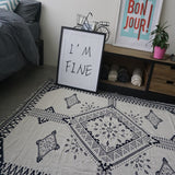 100% Cotton Carpet Blanket Two Different Faced Crochet Thread Throw Rug Floor Mat