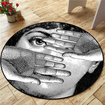 High Quality Fornasetti Carpets Round Rugs