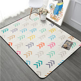 Thicking Geometric Arrows Printed Floor Carpet Rugs