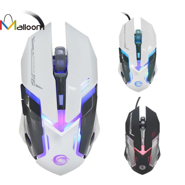 Malloom 2016 Hot Sale 3200 DPI 6D Buttons LED Wired Gaming Mouse For PC Laptop Colorful Glare Gaming Mouse