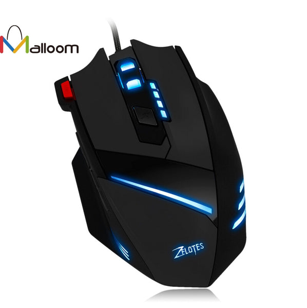 7 Key USB Wired Optical 1600DPI LED Optical Wired Gaming Mouse