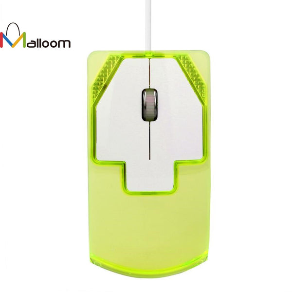 Malloom Wired Gaming Optical Mouse 1600 DPI Optical USB LED Wired Game Mouse Mice For PC Laptop Computer #20