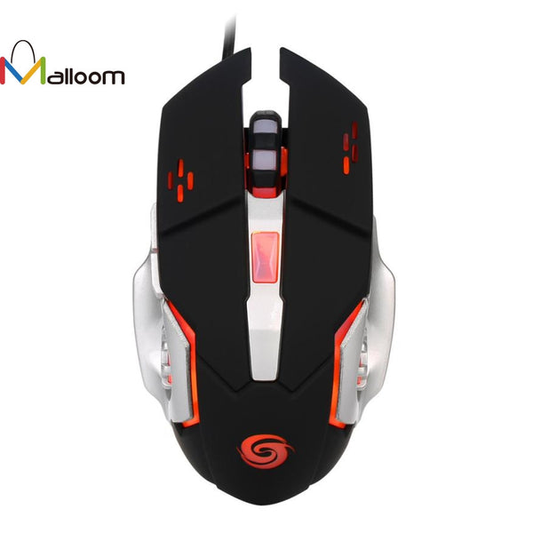 Malloom Mouse Game In Computer Mice 2017 New 3200DPI Optical Adjustable 6D Button Wired Gaming Mouse Mice For PC Gamer